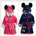 [Bosudhsou] Roupas de Outono Inverno Crianças Pijamas robe crianças Micky Minnie Mouse Roupões Bebê homewear Meninos meninas desgaste Casa