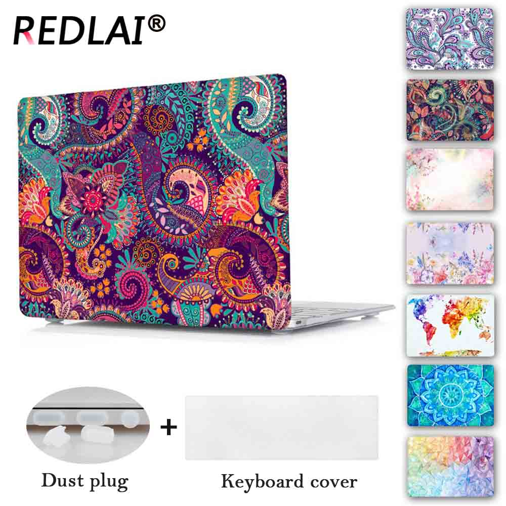 Redlai Colors Crystal Clear Laptop Case For Macbook Pro 13.3 15.4 Retina Air 13.3 inch 2016 New For Macbook Pro 13 Touch bar for macbook new pro 13 15 touch bar laptop case for mac book air pro retina 12 13 15 creative lamp blackboard print hard cover