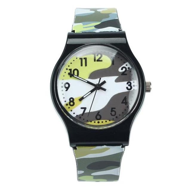 Camouflage Children Watch Quartz Wristwatch For Girls Boy Best Gift Criancas rel