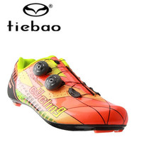 TIEBAO Carbon Fiber Cycling Shoes off Road Bike Shoes Riding Equipment Bicycle Locking Bike Shoes Men Women Zapatillas Ciclismo