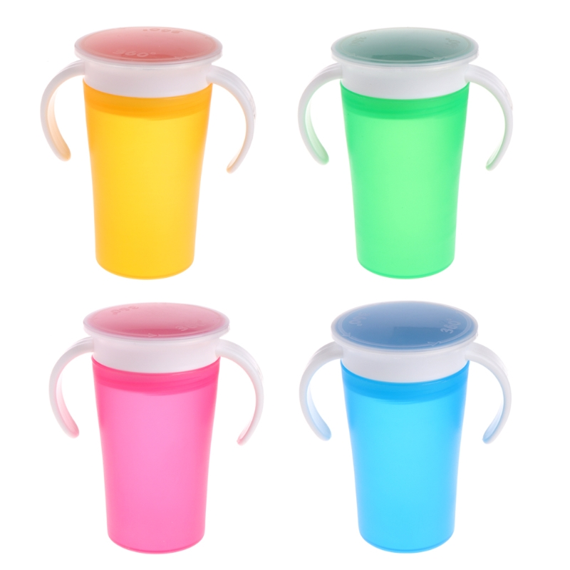 Children 360 Degree Magic Drinking Prevent Leaking Cup Toddler Training Cups New