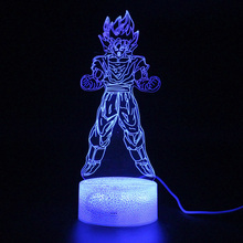 USB Touch Sensitive Light Dragon Ball Figure Goku Lamp 3d Remote Control Table Led Night Illusion Lamps