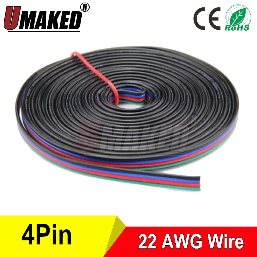 10m 4pins tinned copper wire,RGB extension cable wire, 22AWG LED ...