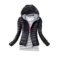 Autumn Winter Women Basic Jacket Coat Female Slim Hooded Brand New Cotton Coats Casual Black Jackets 004