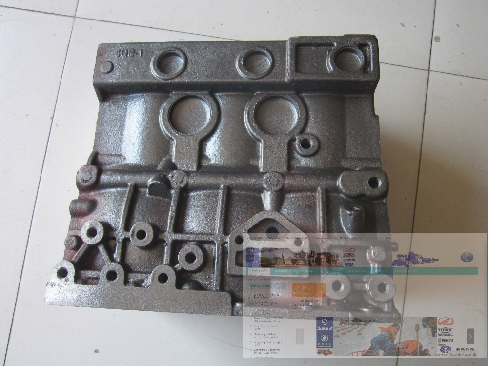 Laidong KAMA KM385BT engine parts, the cylinder block, part number:  KM385QB-01111 laidong kama km385bt for tractors like jinma foton dongfeng the high pressure fuel pump 3i344 part number km385bt 10100