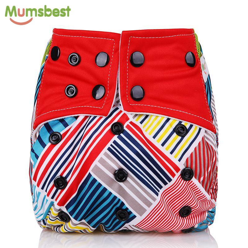 [Mumsbest] 2018 New Arrival Baby Cloth Diapers Adjustable Diaper Washable Waterproof Reusable Nappies Suit 0-2 years 3-15kg