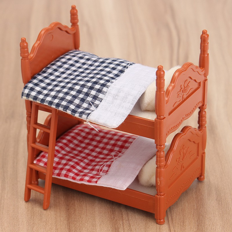 Cute 1 set sofa mini fluctuation bed acessories doll house for Sofa bed kids room