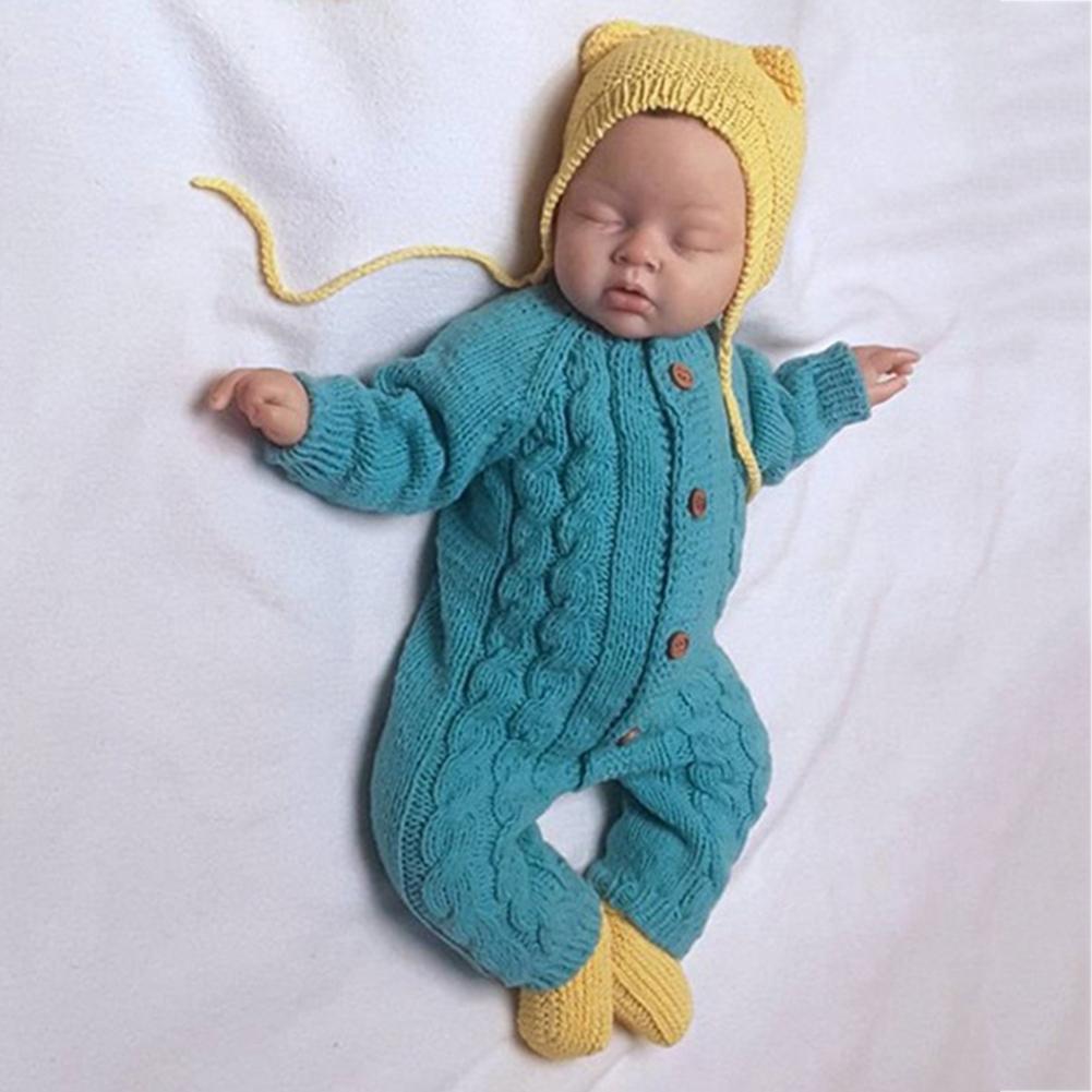 Fashion Cute Baby Boy Girl Long Sleeve Knit Romper Infant ...