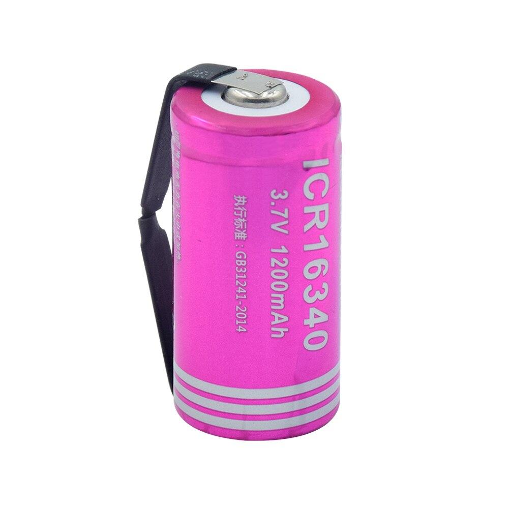 1/2/4 Pcs/lot High Quality 3.7V 1200mAh 16340 Lithium Li-ion Battery Cell For Headlamp Laser Pen Led Light Flashlight Mini Fan