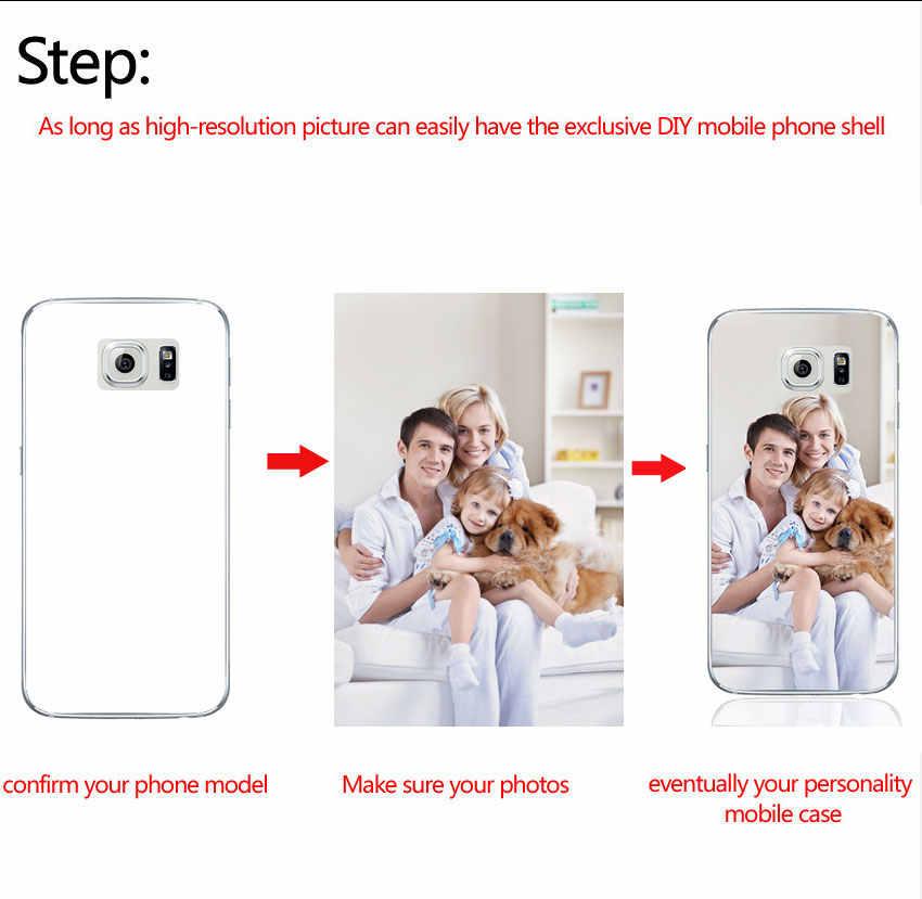 Kustom DIY Cetak Foto TPU Case Telepon untuk Samsung Galaxy S3 S4 S5 S6 S7 Edge S8 S9 PLUS catatan 3 C5 C7 8 9 Disesuaikan Cover