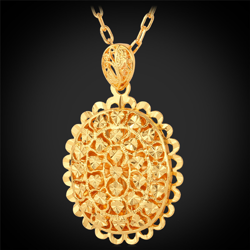 Collare trendy pendant necklace womenmen gold color oval shape collare trendy pendant necklace womenmen gold color oval shape hollow heart pendant necklace women jewelry wholesale p594 in pendant necklaces from aloadofball Gallery