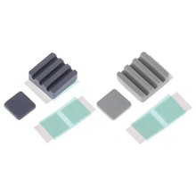 2PCS Silicon carbide Ceramic Heat Sinks CPU Cooling dissipador for Raspberry Pi3(China)