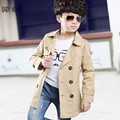 New Autumn Winter Kids Trench Coat Classic Fashion Design Boy Trench Coat Brand Full Sleeve Solid Trench Coats For Boys