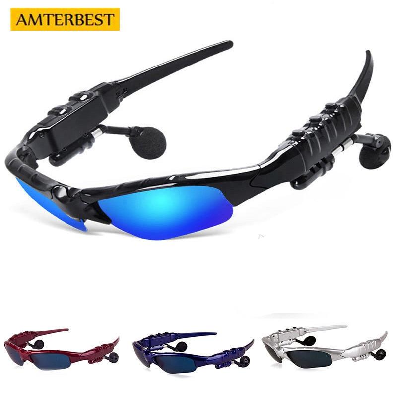 AMTERBEST Smart Glasses Bluetooth Earphone Sunglasses Outdoor Sun Glasses Wireless Headphones Microphone for Xiaomi Xaomi Sony