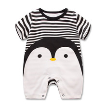 2017 Baby rompers summer style Penguin baby boy clothes newborn girl short sleeve Baby cotton 100% clothes children's Clothes
