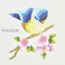 Bird Iron on Patches for Clothing Animal of The Breach Embroidery Applique DIY Hat Coat Dress Pants Accessories Cloth Sticker breach of faith