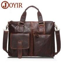 JOYIR Genuine Leather Men Bag Messenger Bag Briefcase Men Laptop Bag Leather Casual Shoulder Bags for Men leather Handbag 2019