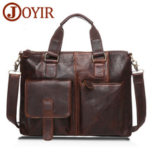 Sinterklaas 2017   Clearance Joyir Luxury Laptop Bag Mens Briefcase Genuine Leather Handbag Executive Business Shoulder Bag Travel Bolsos Maletin Hombre B260
