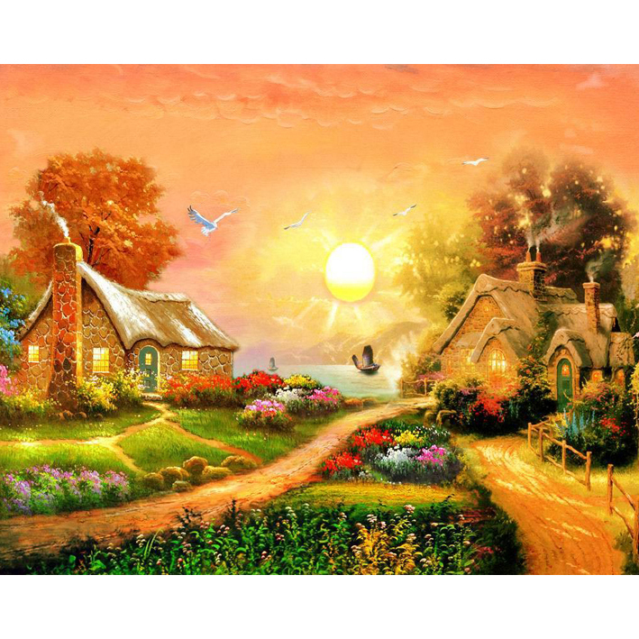 5D Diamond Painting Scenery Sunrise Kits For Embroidery