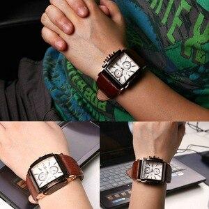 Image 3 - BOAMIGO גברים קוורץ שעונים חיוג גדול אופנה מזדמן ספורט שעונים רוז זהב תת חוגות שעון חום עור זכר יד שעונים