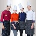 2016 new arrivals roupas cozinheiro bolo cozimento mestre cozinheiro chefs jaqueta homens e mulheres brancos vestuário orange hotel uniforme do cozinheiro chefe
