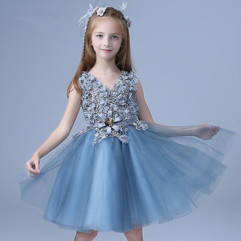 Aliexpress.com : Buy Flower Girl Dresses Child Navy Blue ...