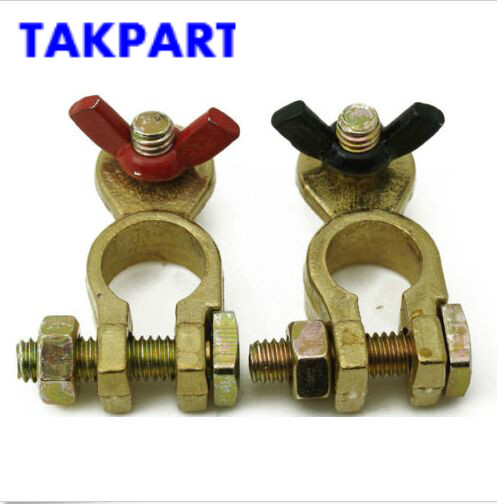 TAKPART MARINE BOAT BATTERY TERMINAL WITH VINYL COATED WING NUTS - Boat/Truck/Car/4x4 image