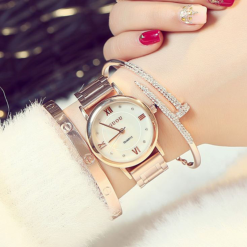 GUOU Ladies Watch Fashion Women's Watches Reloj Mujer Bracelet Watches For Women Rose Gold Clock Women relogio feminino saat guou luxury women watches roman numerals fashion ladies watch rose gold watch calendar women s watches clock saat reloj mujer