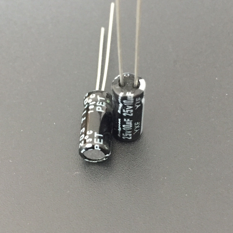 50pcs 6.8uF 25V Rubycon MH5 4x5mm 25V6.8uF Aluminum Electrolytic Capacitor