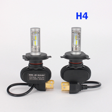 2 PCS Car Headlight Bulbs 50W 8000LM CREE LED Chips CSP spotlight automobile work Head font