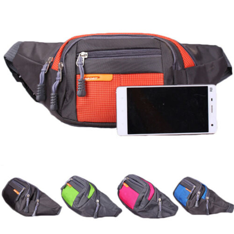 2019 Brand New Fashion Unisex Waist Bag Mens Fanny Pack Fashion Camping Waist Pouch Sport Shoulder Bag