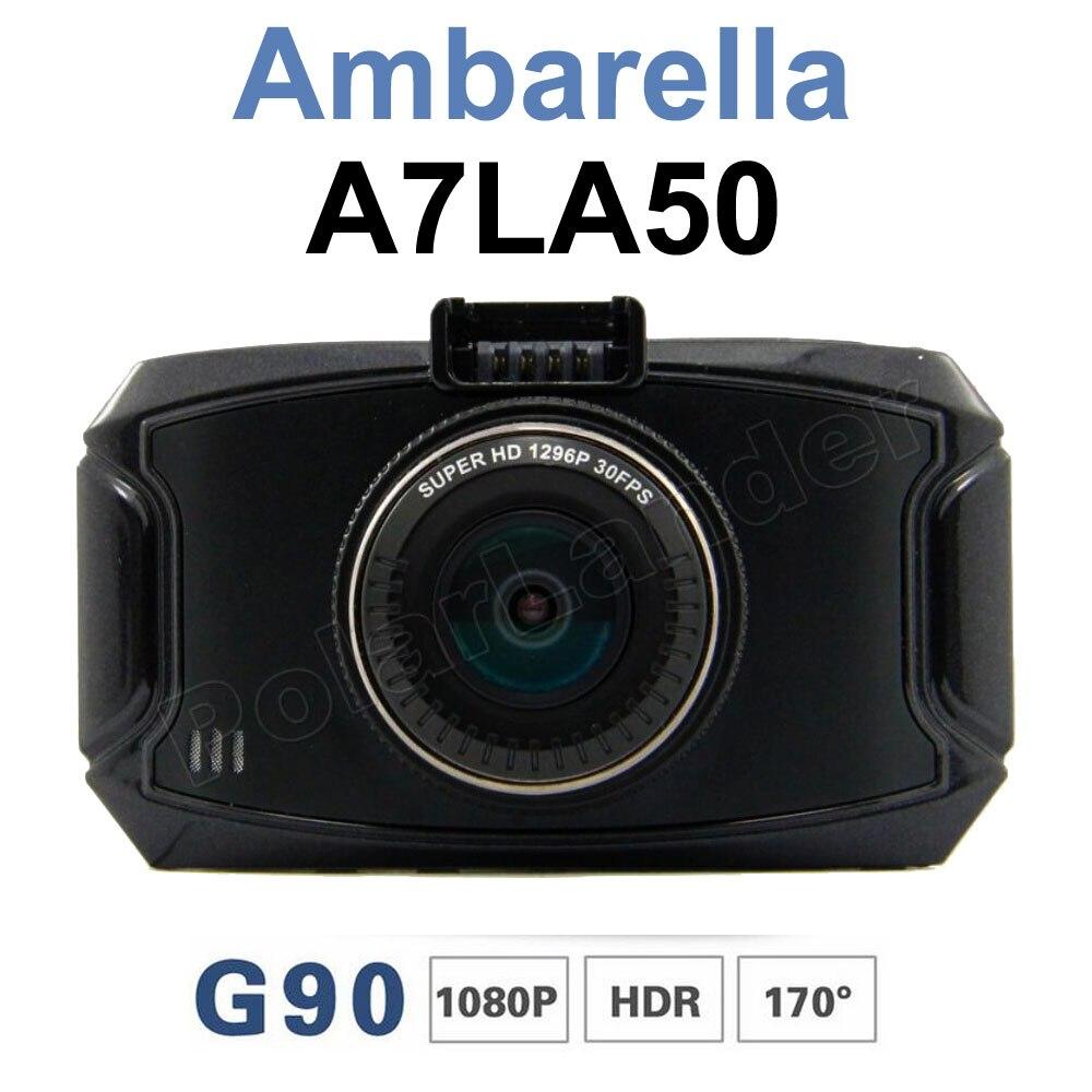 2.7 inch Ambarella A7LA50 Car Camera DVR Recorder G90 HD 1080P 170 degree Night Vision HDR Camcorder Dash Cam new arrival 2 7 inch ambarella a7 car camera dvr recorder g90 hd 170 degree wide viewing angle g sensor night vision