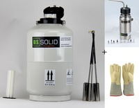 10 L Liquid Nitrogen Tank Sprayer 35cm 13 8 Cryogenic Glove