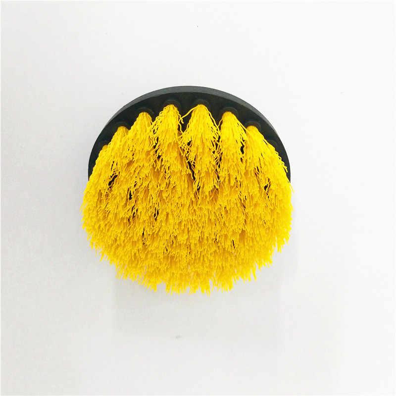 3 יח'\סט יד כלי סט צהוב תרגיל מברשת כוח תרגיל לשפשף מברשת נקי מברשת בשימוש תרגיל שטיח משלוח חינם