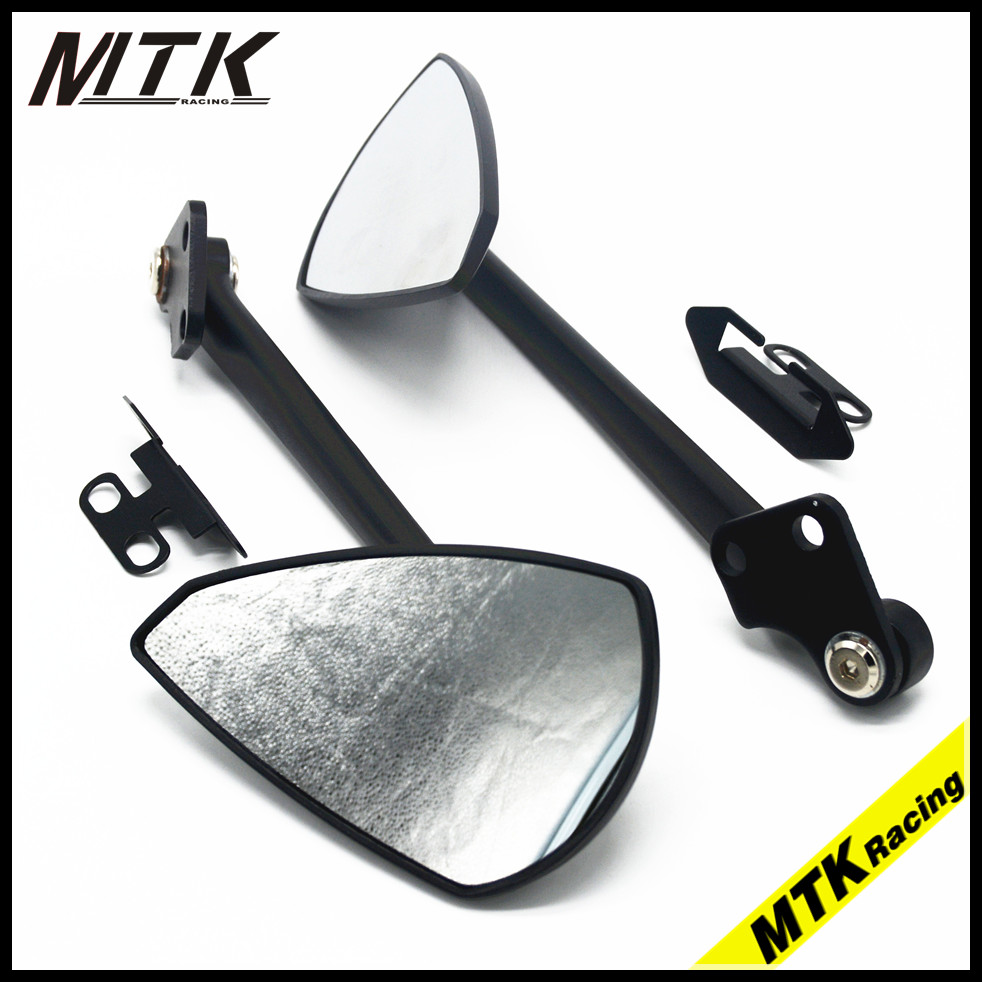 MTKRACING  Motorcycle glass rearview mirrors CNC Rear Side For Yamaha TMAX 530 tmax530 motorcycle rear side mirrors aluminium cnc rearview mirrors for yamaha ktm honda cb650f cb1000r cbr 600f4i cb400 aprilia rsv4 r
