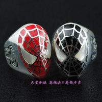 Imported from Thailand 925 Sterling Silver Spider Man Thai Silver Ring Man ring