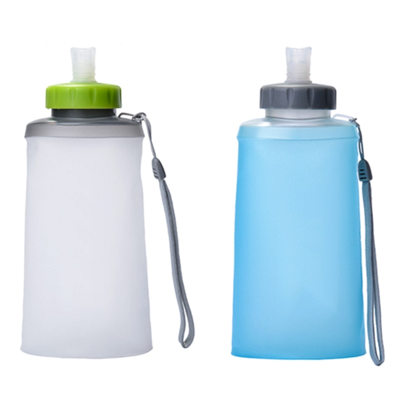 Portable Silicone Folding Water Bag Sport Camping Drink Kettle Bicycle Bottle Travel Bottles