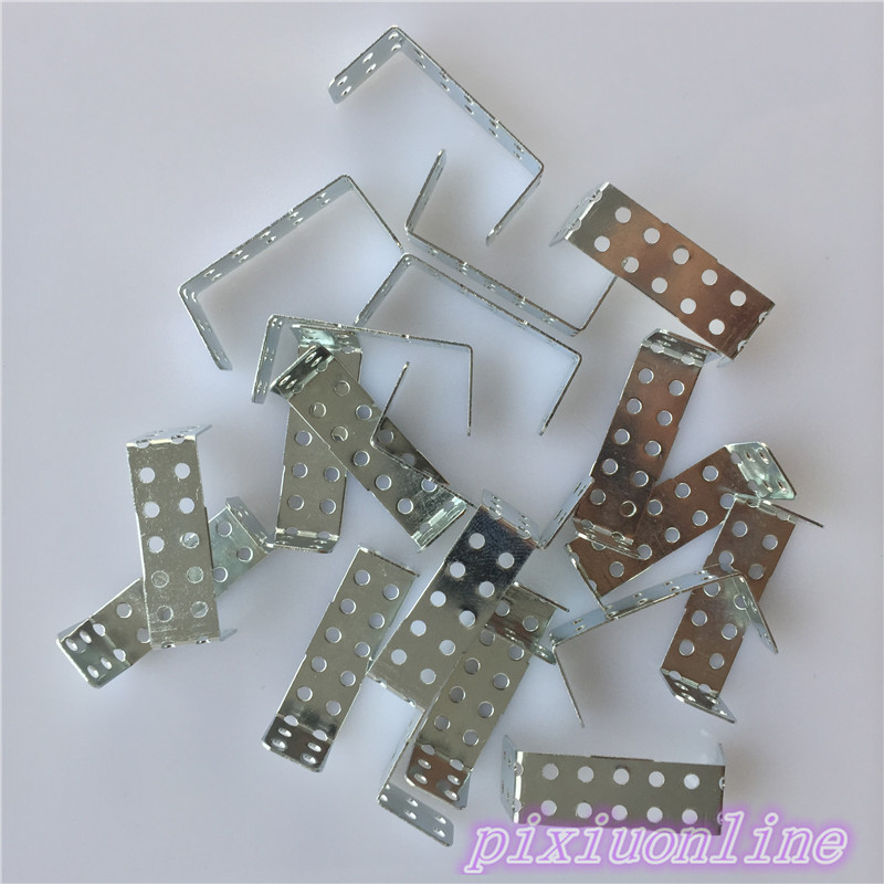 20pcs/pack J172Y Iron U-shaped Sheet Multi Aperture U-iron Channel Iron DIY Model Parts High Quality On Sale
