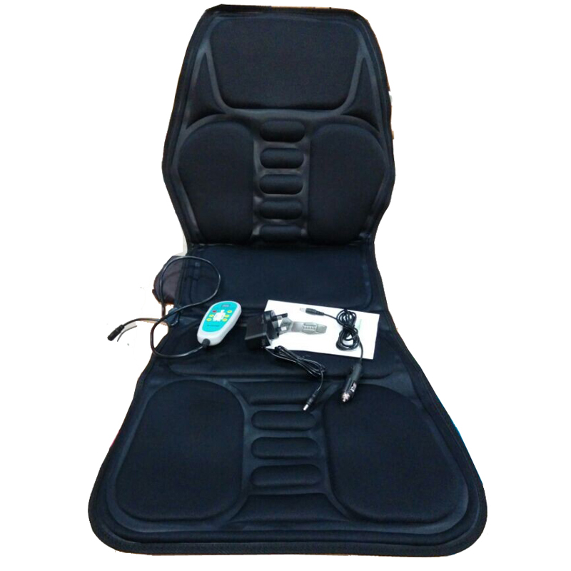 HFR-858-1E HealthForever Brand Non Woven Fabric DC12V Adaptor 1A Vibrating Heat Function Home & Car Massage Cushion Pad
