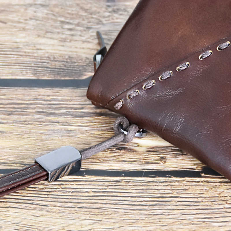 DICIHAYA Couro Genuíno Bolsa Projeto Longo Ultra-fino Carteiras com Pulseira de Couro de Luxo saco Do Telefone Bolsa de Couro Com Zíper Masculino