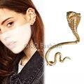 Egypt Cleopatra Gold 3D Snake Cobra Ear Cuff Earring Goth Punk Fancy Dress Jewelry 2017 New