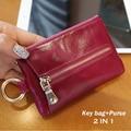 KAVYA New Arrival Cowhide Genuine Leather Purse Coins bag  Fashion Women Housekeeper Holders Key Bag Cases drop ship