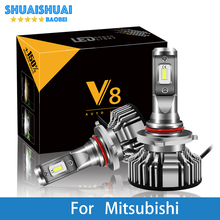 Автомобильный головной светильник для Mitsubishi Outlander/Nimbus/Montero/Mirage/Magna/Lancer/Grandis/Expo H7 светодиодный H4 светодиодный H1 H7 H3 8000лм CSP светильник