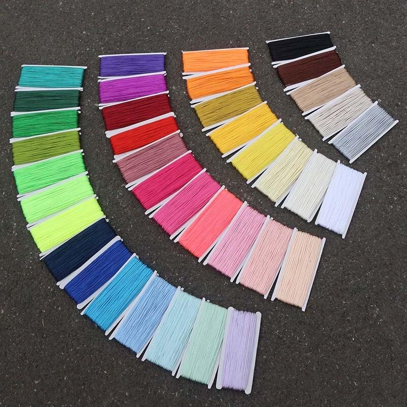 38 renkler 34 yards/lot (31 Metre) 3mm Çin Soutache Kabloları Yılan Göbek naylon halat Iplik Kabloları DIY Takı Yapma Aksesuarları