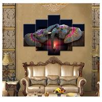 5 Pcs Elephant Diy Diamond Embroidery Sets Animals Painting Crafts 3d Diy Diamond Mosaic Painting Square