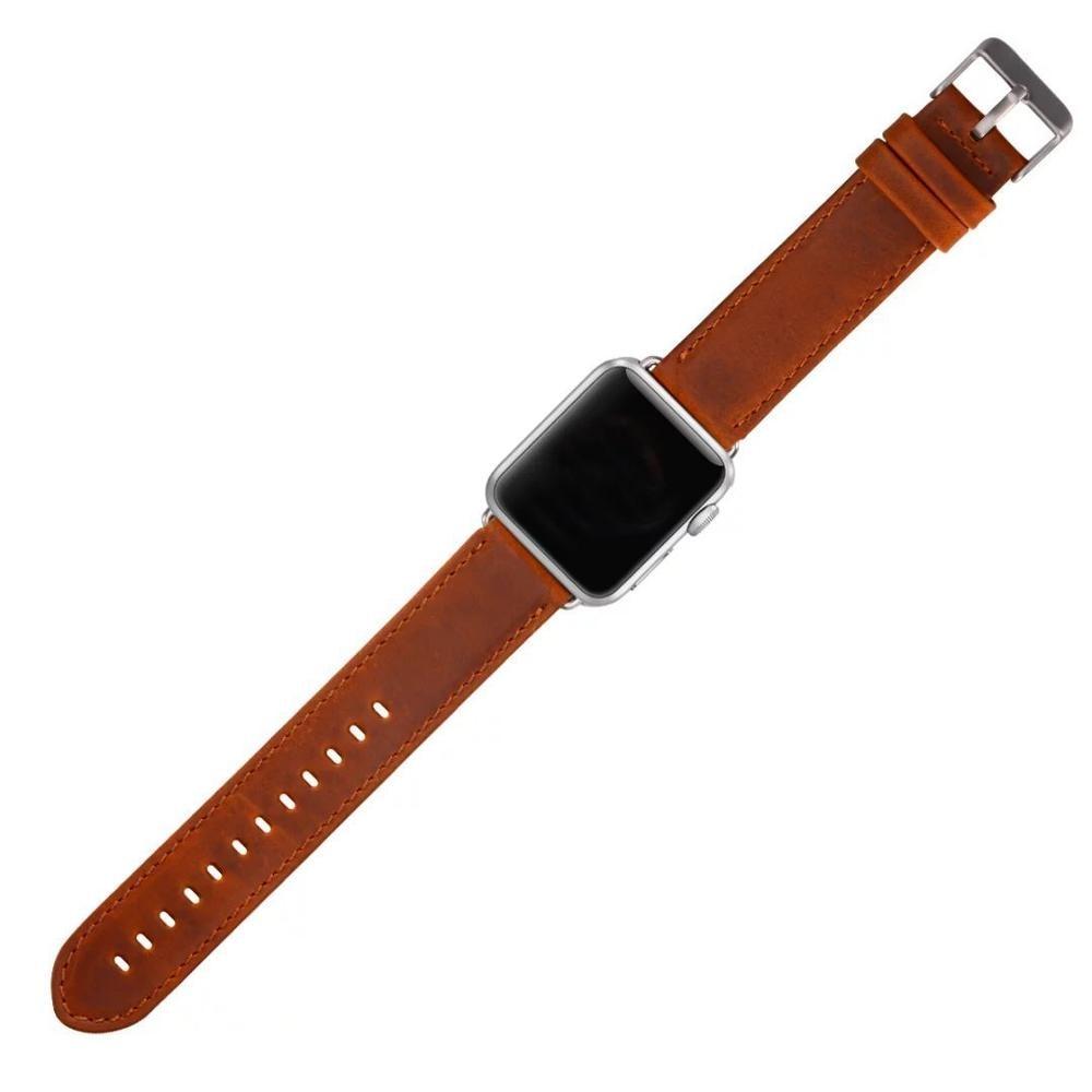 Serija 2/1 100% pravega usnja trak za ročno uro za Apple Watch Band - Dodatki za ure - Fotografija 3