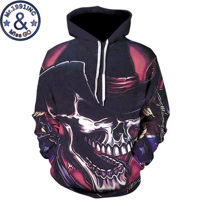 Funny Skull Print Hooded Sweatshirt Men Women 3D Hoodies Sweatshirt Men Harajuku Hip Hop Streetwear Hoody Tracksuit Sweat Homme