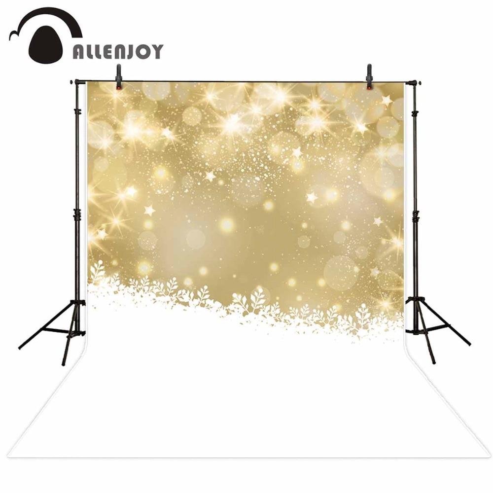 Allenjoy photography backdrops merry christmas leaves winter stars xmas bokeh newborn baby shower snow background vinyl fabric