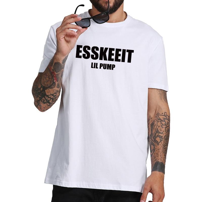 Новое поступление Lil насос футболка esskeeit горячие новые песни летняя футболка хип-хоп личности хлопок Hipster футболка Стандартный нам Размеры