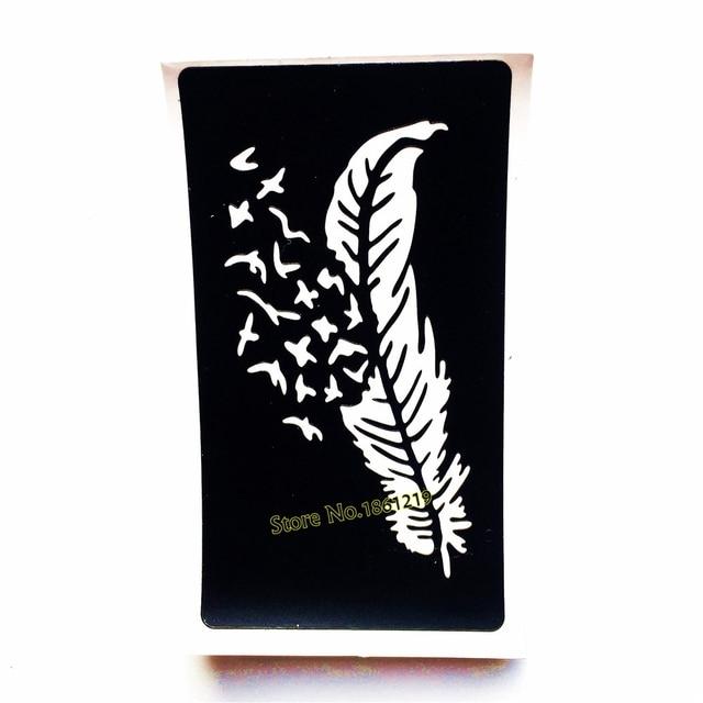 1 Pc Corps Art Aribrush Peinture Tatouage Au Henne Pochoir Plume